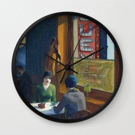 Chop Suey - Edward Hopper Wall Clock