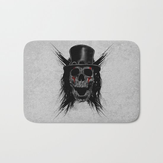 Skull Hat Bath Mat