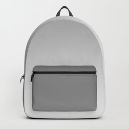 Gray to White Horizontal Linear Gradient Backpack