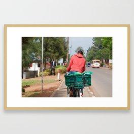 Bike Delivery Framed Art Print