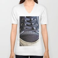 shoe V-neck T-shirts featuring Shoe by Fine2art