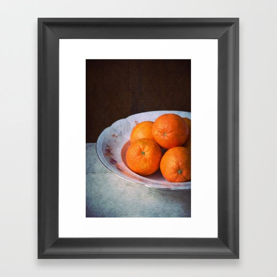 orange time Framed Art Print