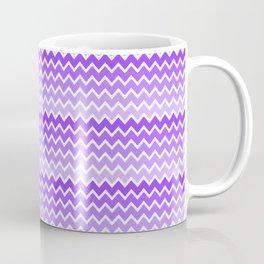 Purple Lavender Lilac Ombre Chevron Coffee Mug