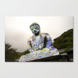 Lotus Glitch Canvas Print