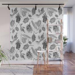Black and White Australia Print Wall Mural