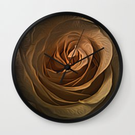 Rose Heart by David Brier Wall Clock