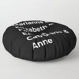 Jane Austen's Heroines I Floor Pillow