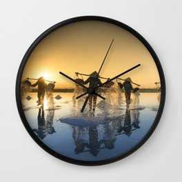 Vietnam Salt Wall Clock