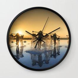 Vietnam Salt Wall Clock