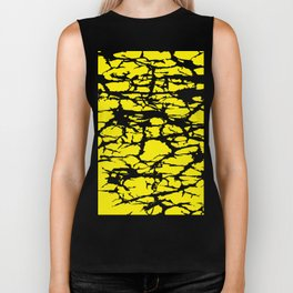 Yellow and Black Interlace Biker Tank