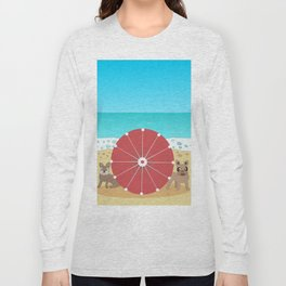 Holiday Romance - Behind the Red Umbrella Long Sleeve T-shirt