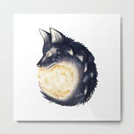 Moon Wolf Metal Print