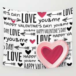 Saint Valentin Love LV Wall Tapestry