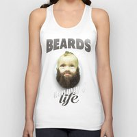 toddler Tank Tops featuring Beard boy by HappyMelvin