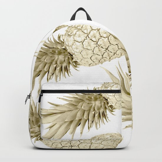 Gold Pineapple Bling Backpack