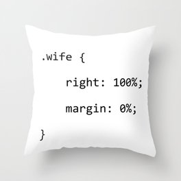 CSS Wife Woman IT Programmer Developer PC Science Throw Pillow
