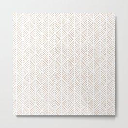 Abstract Leaf Pattern in Tan Metal Print