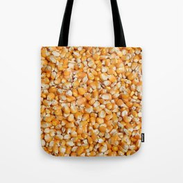 corn cereals yellow background pattern Tote Bag