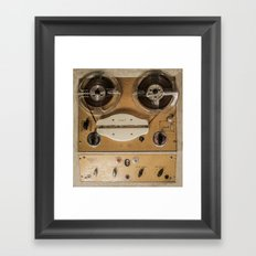 Vintage tape sound recorder reel to reel Framed Art Print