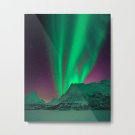 Northern Light Aurora Borealis in Norway Metal Print