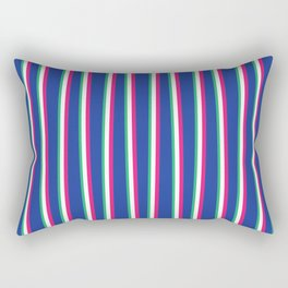 Between the Trees - Blue, Pink & Green #571 Rectangular Pillow