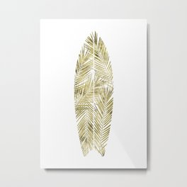 SURFBOARD poster gold Metal Print