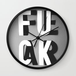Fuck Fear Wall Clock