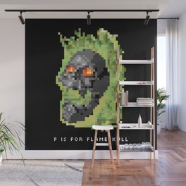 F is for Flameskull Wall Mural