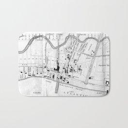 Vintage Map of Coney Island (1879) Bath Mat