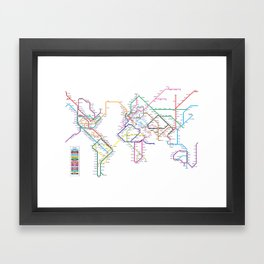 World metro subway map art print by artpause society6 world metro subway map framed art print gumiabroncs Images