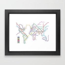 World Metro Subway Map Framed Art Print