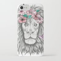lion king iPhone & iPod Cases featuring Lion King by Sorasoraya