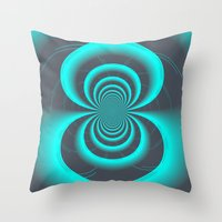 inception Throw Pillows featuring Inception by Angela Pesic