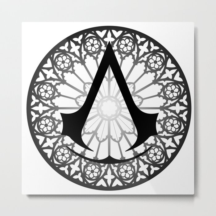 Assassin S Creed Logo Notre Dame Metal Print By Whysofabbro Society6