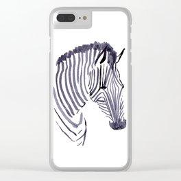 Zebra face Clear iPhone Case