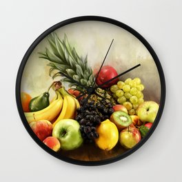 Fruit Table Wall Clock