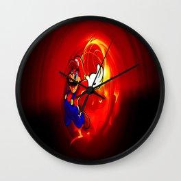 marios and balls Wall Clock