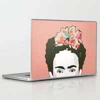 frida Laptop & iPad Skins featuring Frida by Amanda Corbett
