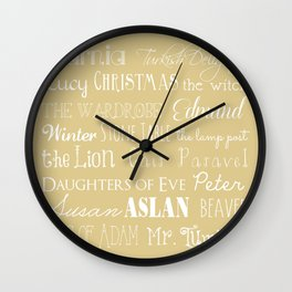 Narnia Celebration- oat Wall Clock