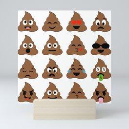piles of poop in different moods Mini Art Print