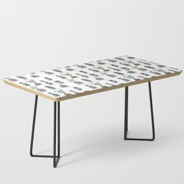 Cactus and Succulent Pattern Coffee Table