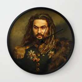 Jason Momoa - replaceface Wall Clock