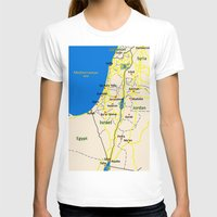 israel T-shirts featuring Israel Map design by Efratul