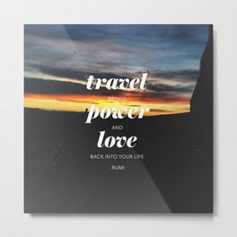 Travelling // #TravelSeries Metal Print