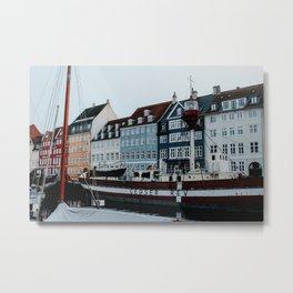Nyhavn   Colourful Travel Photography   Copenhagen, Denmark Metal Print