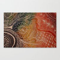 tie dye Canvas Prints featuring Tie Dye  by sarahlou_0812