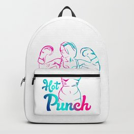 Pink & Blue Vector Style Hot Punch-Boxing Martial Arts Apparel Best Gift for Girls & Women Backpack