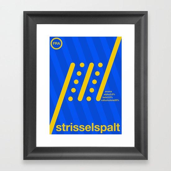 strisselspalt single hop Framed Art Print