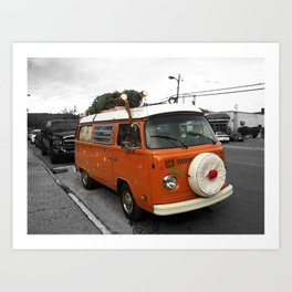 The Holiday Bus Art Print