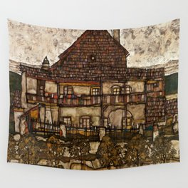 "Egon Schiele ""House with Shingle Roof (Old House II)"" Wall Tapestry"